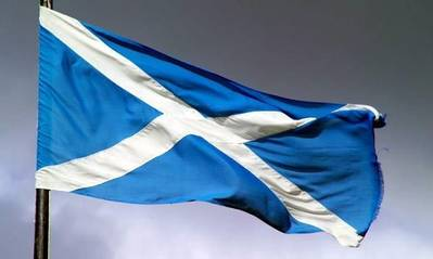 Scots flag: Image couresy of Maritime UK