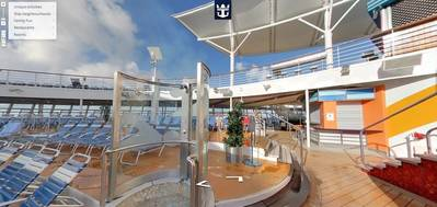 Screenshot of Google Street View aboard Royal Caribbean's Allure of the Seas