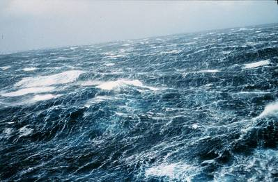 Sea storm wind-waves: Photo courtesy of NOAA