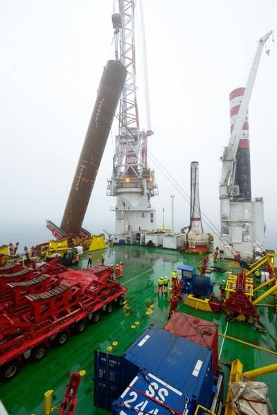 Seajacks Zaratan Placing Monopile