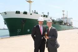 Seaport Canaveral General Manager Juriaan Steenland and Port Canaveral CEO Stan Payne: Photo credit Seaport Canaveral
