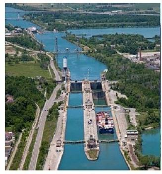 Seaway Locks: Photo credit SLSDC
