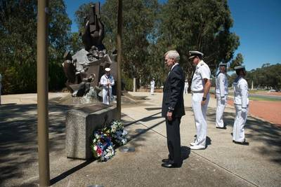 SECNAV Mabus at Naval Memorial: Photo credit USN