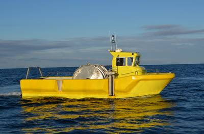 Seismic Survey Boat WP 950: Photo credit Westplast AS
