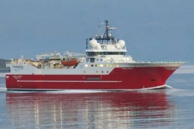 Seismic survey ship Sanco Swift: Photo courtesy of the owners