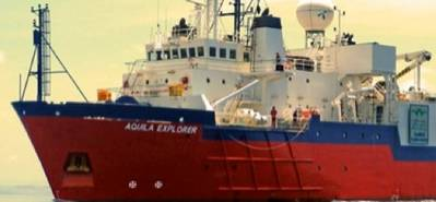 Seismic survey vessel: Image courtesy of Seabird Exploration