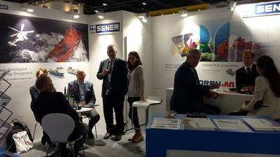 SENER held a stand in the Spanish Pavilion at Nor-Shipping 2017 (Photo: SENER)