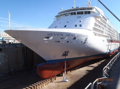 Seven Seas Voyager has been applied with Nippon Paint Marine's A-LF-Sea hull coating as part of a fleet-wide agreement with Norwegian Cruise Line Holdings (Norwegian)