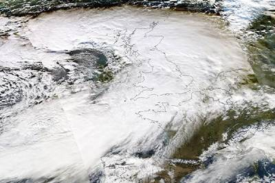 Severe storms have battered the UK. NASA