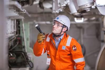 Ship surveyor: Photo courtesy of LR