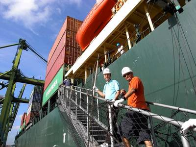 Ship's gangway: File photo