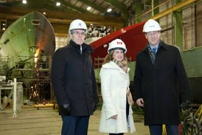Shipyard Ministerial Visit: Photo credit Irving