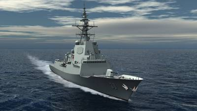 Shown is an artist rendering of the Royal Australian Navy's Hobart-class Air Warfare Destroyer. Each of the three AWDs for this program will be powered by two LM2500 gas turbines in a Combined Diesel or Gas turbine (CODOG) configuration. Photo courtesy of the AWD Alliance.