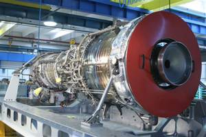 Shown is the LM2500+G4 gas turbine module supplied by Avio which was recently delivered to DCNS' shipyardinFrance. Photo courtesy ofAvio.