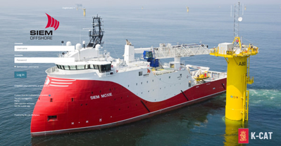 Siem Offshore will use K-CAT across their global oil & gas fleet after positive reports (Photo: Kongsberg Maritime)