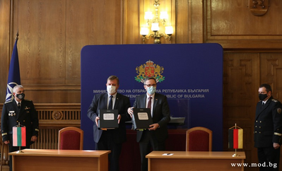 Signing ceremony for the two patrol ships / Image credit: Bulgarian Ministry of Defense