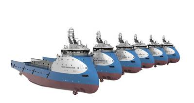 Six Blue Ships: Image courtesy of Ulstein
