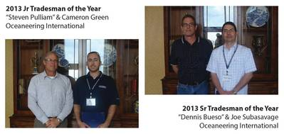 Snr. & Junr. Tradesmen of the Year: Photo credit VSRA