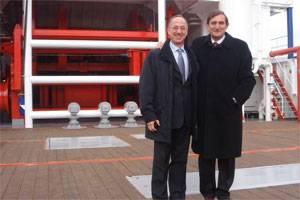SpecTec CEO Giampiero Soncini with Mr. Ferdinando Tognini, Head of Fincantieri Riva Trigoso shipyard