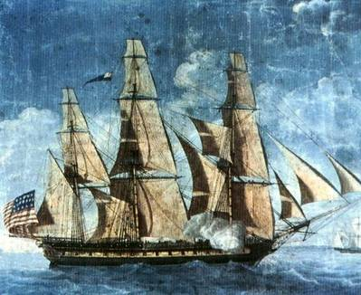 USS Constitution (Watercolor attributed to Michel Felice Corné)