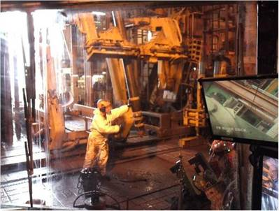 Statoil G-4 AHT2 rig floor: Photo credit Deep Casing Tools