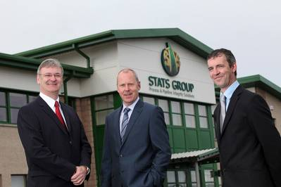 STATS Group directors (From Left to right) Graeme Coutts and Leigh Howarth with STATS Group CEO Pete Duguid (Photo: STATS Group).