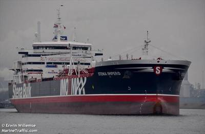 Stena Impero, seized by Iran in July, remains in their custody. Image Credit: MarineTraffic.com / © Irwin Willemse