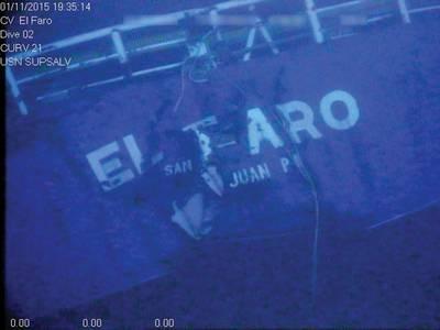 Stern of the El Faro (Photo:NTSB)