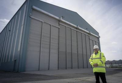 Stewart Graves, Managing Director of Mainstay Marine Solutions outside the company's build hall on Pembroke Dock (Photo: Mainstay Marine Solutions)