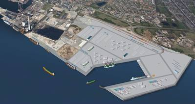 Østhavn visualised: Image courtesy of Port of Esbjerg