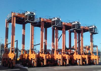 Straddle carriers for Maher Terminals Photo Cargotec
