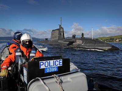 Submarine 'Ambush': Photo credit MOD