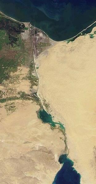 Suez Canal: Photo credit Wiki CCL