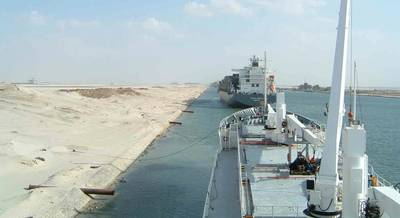 Suez Canal transit: File photo