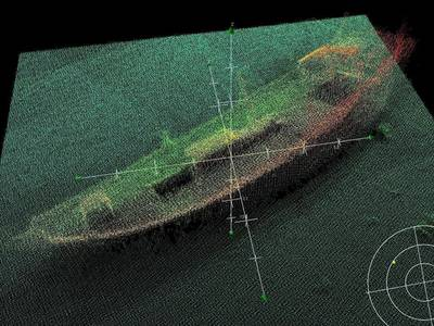 Sunken Dhow Located: Photo credit MOD