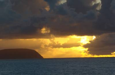 Sunrise off of Oahu. (Photo: Greg Trauthwein)