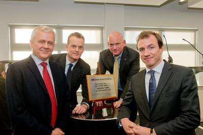 Swire Oilfield Services' chief executive officer, Tor Helgeland; chairman, Barnaby Swire; director & general manager UK, Roy Burrell; and chief operating officer, Richard Sell.