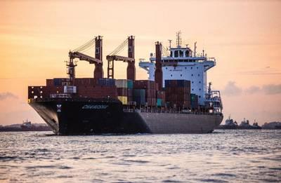 Swire Shipping's first 2,400 TEU newbuild, MV Changsha. (Photo: Swire Shipping)