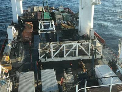 Ardent Oceania recently recovered containers lost from YM Efficiency off the coast of Australia. (Photo: AMSA)