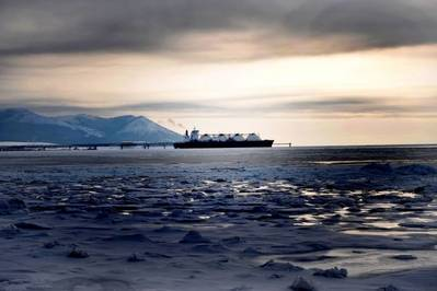 Tankship on NSR: Photo courtesy of Gazprom