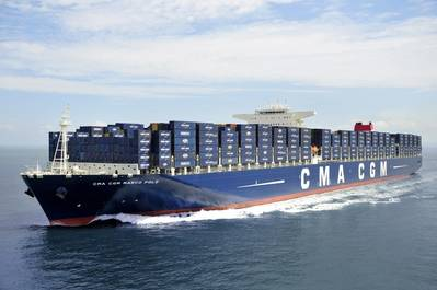 The 16,000 TEU CMA CGM containership Marco Polo (file image)