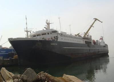 The 1984-built Dagistan is one of over 80 vessels operated by the Azerbaijan State Caspian Shipping Company. This 11450grt ro-pax  can carry just over 200 passengers.