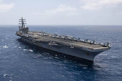 The aircraft carrier USS Dwight D. Eisenhower (CVN 69) transits the Arabian Sea, June 12, 2020. (U.S. Navy photo by Aaron Bewkes)