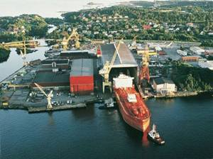 The Aker Yard in Florø, Norway.