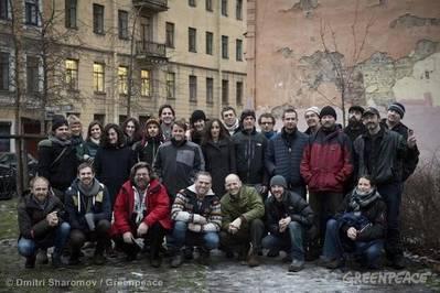 The 'Arctic 30': Photo credit Greenpeace