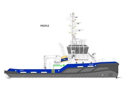 The Azistern 3270 tug