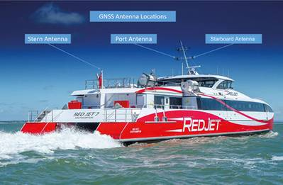 The Azurtane vessel docking user interface will be trialled on Red Funnel's high-speed ferry, Red Jet 7, in March 2020. Photo credit: Red Funnel