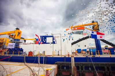 The Backhoe Dredger Christening: Photo credit IHC Merwede