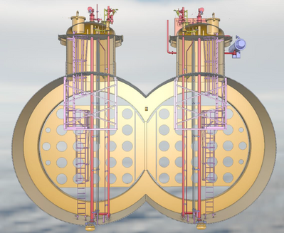 """The bilobe tank has a capacity of 8000cbm and more than doubles the transportation capacity of liquid CO2 over current vessel capacity without the size, weight and stability concerns that would have come with a higher capacity """"monolobe"""" design (Image: Høglund)"""