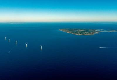The Block Island Wind Farm has begun commercial operations, becoming the first wind farm to deliver energy to the American power grid (Photo: Deepwater Wind)